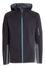 Hooded sports jacket - Black/Grey-blue - Men | H&M CN 2